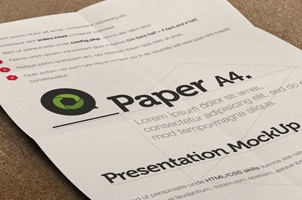 Psd A4 Paper Mock-Up Presentation