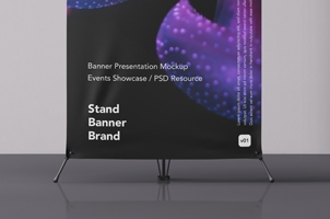 Psd Banner Stand Mockup