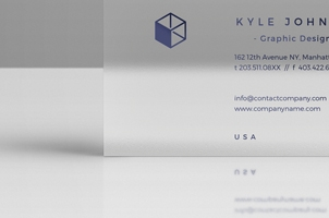 Psd Business Card Mock-Up Vol28