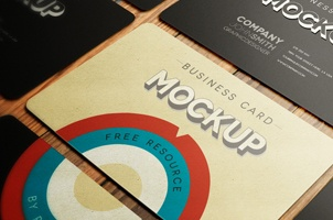 Psd Business Card Mockup Vol4