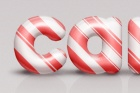 Psd Candy Cane Text Effect