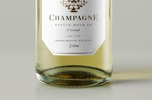 Psd Champagne Bottle Mockup Vol2