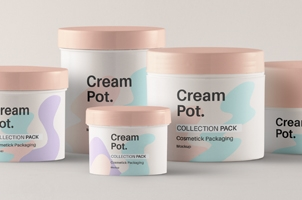 Psd Cream Pot Cosmetic Mockup Pack