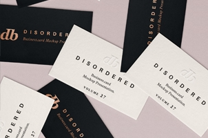 Psd Disordered Business Card Mock-Up