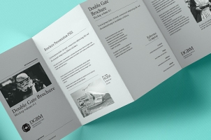 Psd Double Gate Fold Brochure Vol2