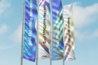 Psd Flagpole Advertising Mockup