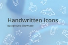 Psd Handwritten Icons Showcase