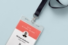 Psd Identity Card Holder Mockup