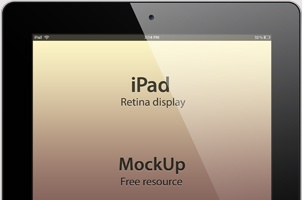 Psd iPad Retina Mockup Template