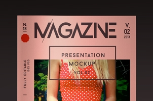 Psd Magazine Mockup View Vol2
