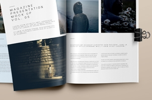 Psd Magazine Mockup View Vol5