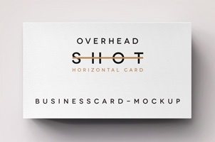 Psd Overhead Shot Business Card Mock Up