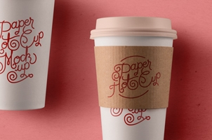 Psd Paper Hot Cup Template Vol3