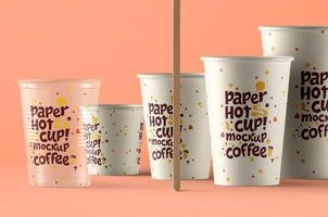 Psd Paper Hot Cup Template Vol6