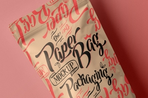 Psd Paper Pouch Packaging Vol3
