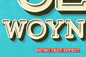 Psd Retro Text Effect Vol2