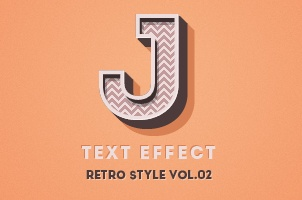 Psd Retro Text Effect Vol3