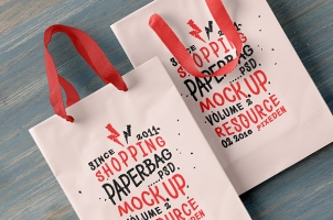 Psd Shopping Bag Mockup Vol2