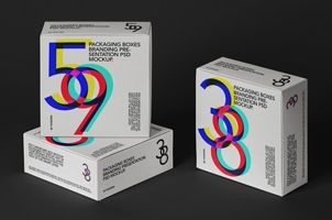 Psd Square Boxes Packaging Mockup-3
