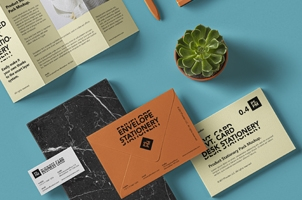 Psd Stationery Elements Mockup