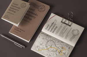 Psd Travel Notebook Stationery Mockup 3