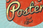 Psd Poster Vintage Text Effect