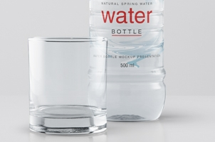 Psd Water Plastic Bottle Mockup