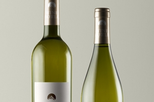 Psd White Wine Bottle Mockup vol3