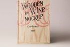 Psd Wine Wood Box Mockup