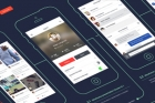 Psd Wireframe App Showcase Mockup