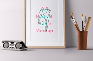 Psd Wood Frame Mockup Vol2