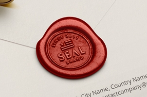 Psd Wood Wax Seal Stamp Mockup