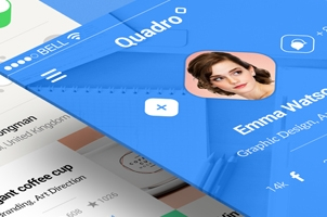 Quadro iPhone App UI Kit Psd