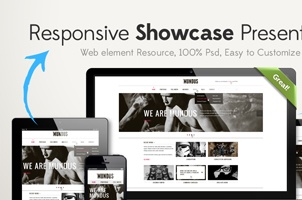 Responsive Showcase Psd