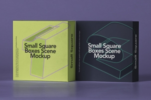 Small Psd Square Box Mockup Set