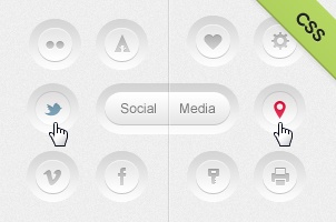 Social Media Clean Buttons CSS
