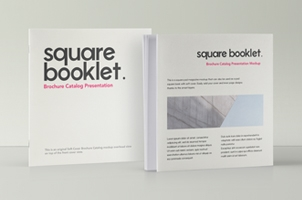 Square Psd Brochure Mockup Vol2