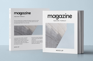 Square Psd Magazine Mockup Vol2
