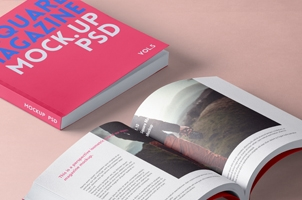 Square Psd Magazine Mockup Vol5