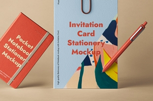 Stationery Psd Pocket Notebook Mockup