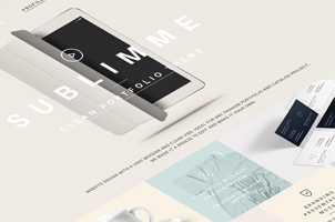 Sublimmme Portfolio Psd Website