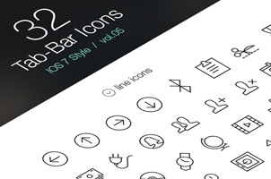 Tab Bar Icons iOS 7 Vol5