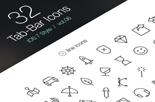 Tab Bar Icons iOS 7 Vol6
