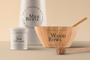 Tableware Psd Mockup Vol6