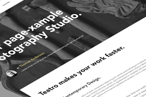 Teatro Corporate Psd Website