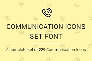 The Icons Font Set :: Communication