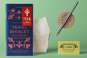 Travel Psd Booklet Mockup Scene