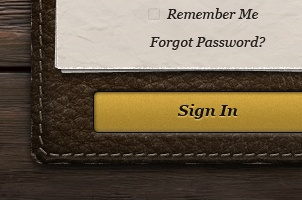 User Login Leather Panel Psd