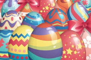 Vector Easter Eggs Set