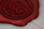 Wax Seal Logo Mock-Up Template